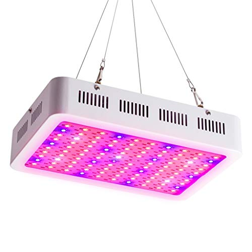 HOMZYY 100W LED-installatie groeien licht, 100 LED's met rood-blauwe plant groeilamp voor indoor tuinkas hydrocultuur planten bloemen (308mm * 208mm * 60mm)