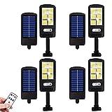 Luz Solar Exterior, Foco Solar Exterior 120 LED con Sensor De...