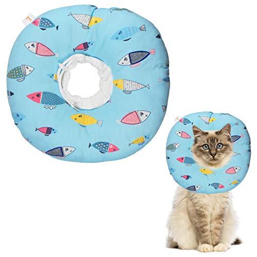 Collare Protettivo per Cani Gatto Cono Elisabettiano Collare Collare di Protezione Regolabile per Animali Collare per Recupero Collare per Recupero di Animali Domestici da Interventi, XS/meno di 2kg