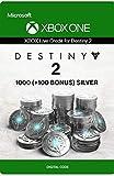 Xbox Live Tarjeta Regalo para Monedas de Plata de Destiny 2: 1000 (+100 Bonus) Xbox One/Windows 10 PC - Código de descarga