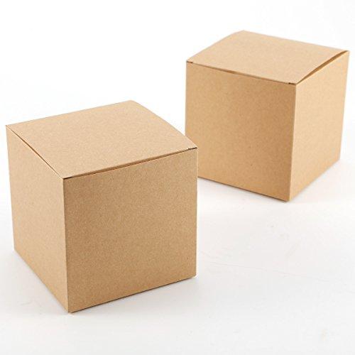Set 50 Cajas dulces bombones Caja kraft boda regalo
