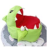TWJH Stuffed Animal Storage Bean Bag Chair-Plush Toy Organizer, Pillows,Towels,Clothes Stuffed Storage Bag(No Stuffing)(Green)