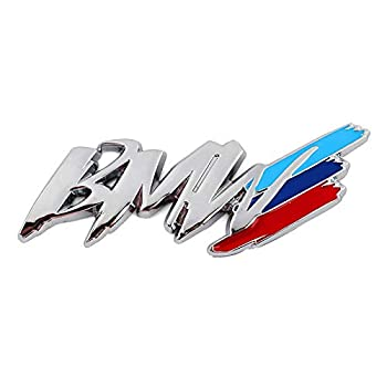 for BMW m3 m5 1 3 4 5 Series x1 x3 x5 M car Styling China net Modified Fender Side Logo car Sticker Decoration Accessories  Color Name   Silver