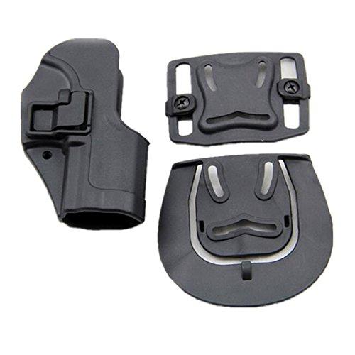 H Welt EU Taktische Serpa Schnelle rechte Hand Paddel Pistole Holster Fall für H & K USP Compact (Schwarz)