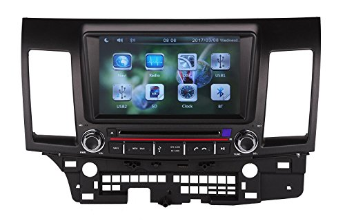 XTTEK 8 inch Touch Screen in Dash Car GPS Navigation System for Mitsubishi Lancer 2008-2013 DVD Player+Bluetooth SWC+Backup Camera+North America Map