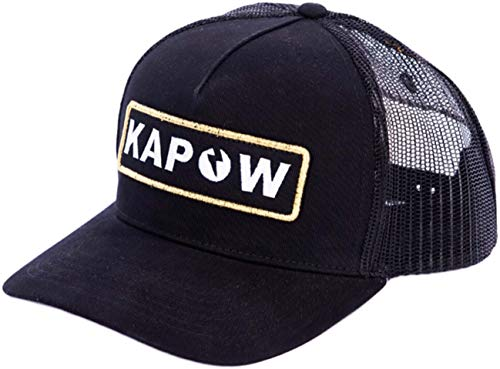 Kapow Meggings Gorras de Béisbol Ajustable con Visera para Hombre (Black Label)