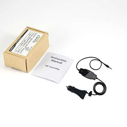 Greatangle Catuo FM Transmitter Car Kit Funkmodulator für Autos mit 3,5-mm-Aux-Stecker und 5-V / 2,4-A-USB-Autoladegerät Einfach zu verwendender schwarzer schwarzer FM-Sender