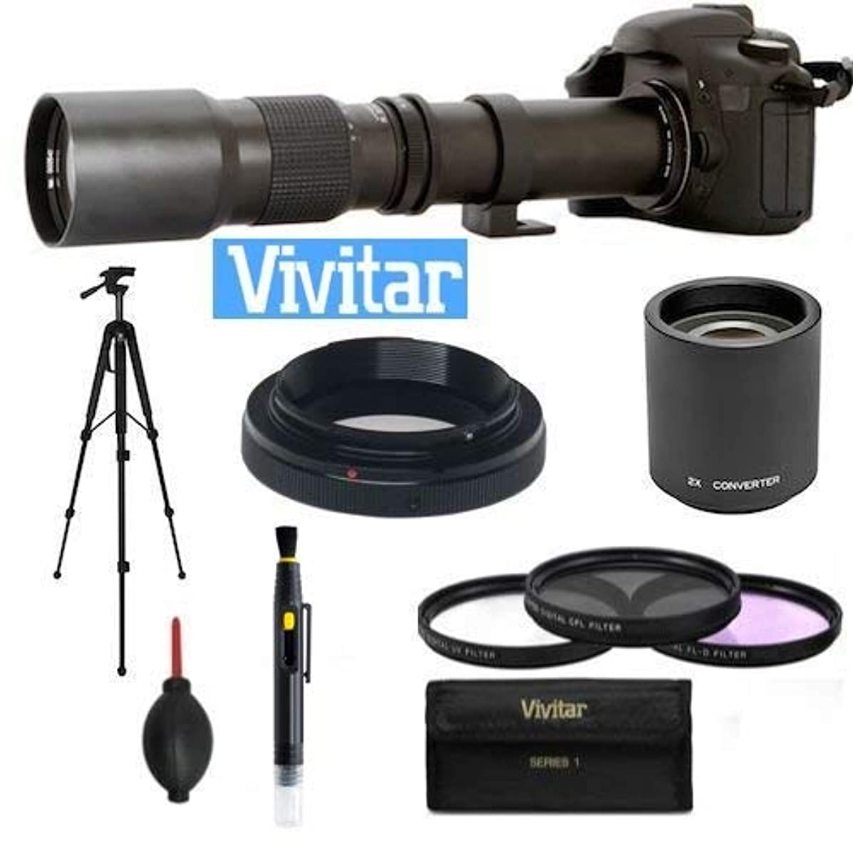 500MM-1000MM TELEPHOTO ZOOM LENS FOR CANON EOS REBEL T1 T2 T3 T4 T5 T6 T3I T4I T5I T6I