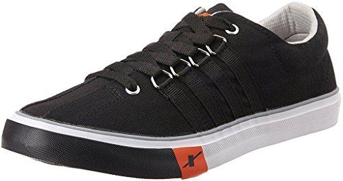 9. Sparx Men's Black Sneakers
