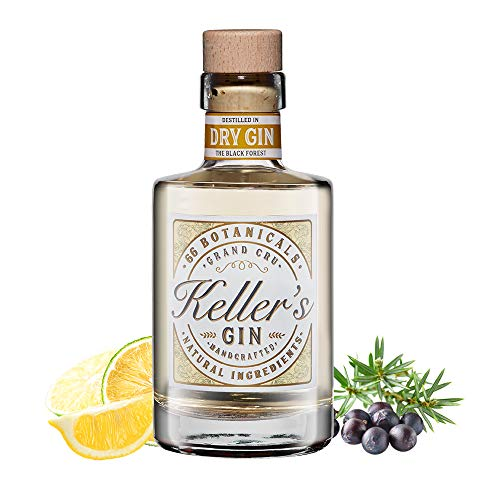 Keller's Dry Classic Gin (1 x 0,5 l), vielseitiger Premium Gin aus 66 Botanicals - 40{a21f6081a16dfa023dde95c2ae7fcb20cf70d473712c9d0fa7f0a5213cec018f} vol. Alkohol