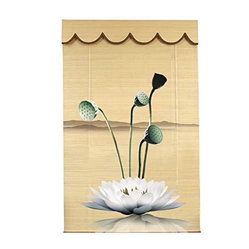 Bambusrollo Blickdicht 60 X 180 cm, Mit 90% UV-Schutz Privatsphäre Für Deck Hinterhof Pavillon Pergola Balkon Patio Veranda Carport Holzrollo ZY