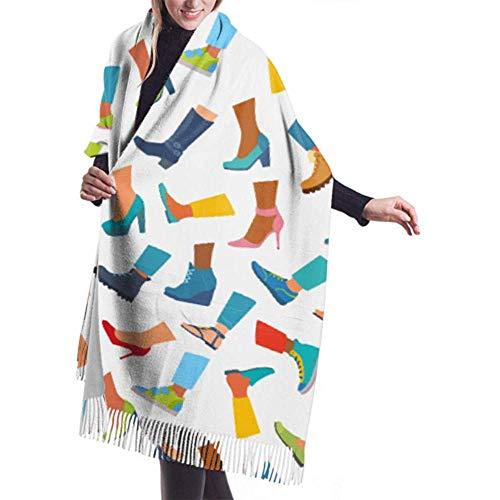 Regan Nehemiah grote sjaal voor hoge hakken pumps schoenen sjaal wikkelsjaal lichte sjaal warme deken
