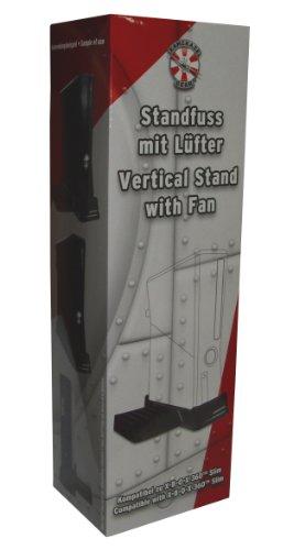 Xbox 360 Slim - Vertical Stand with Fan - black - Standfu mit Lfter [Edizione : Germania]