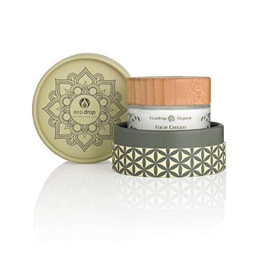 Ecodrop organische gezichtscrème | Geavanceerde niet-vette crème voor de dagelijkse gezichtsverzorging, voor vrouwen | Gemaakt met 100% natuurlijke ingrediënten | Hydratatie & anti-ageing behandeling | Veganistisch | Ecologische verpakking