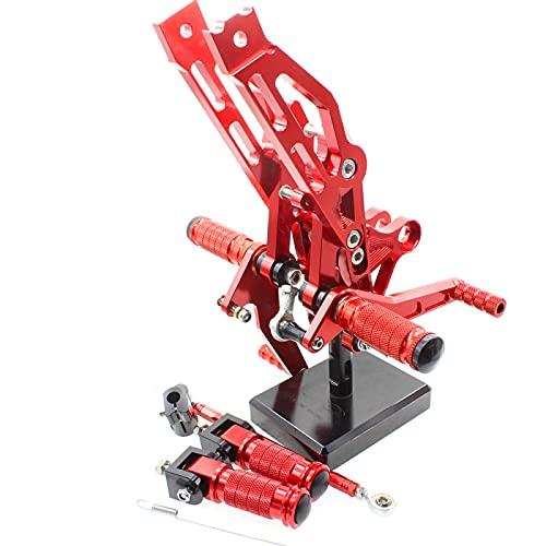 QOHFLD Reposapiés Ajustables de Aluminio para Motocicleta, Juego Trasero, reposapiés de Pedal, para GROM MSX125 MSX 125 2012-2016 2013
