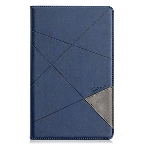 QiuKui Tab Cover For Samsung Galaxy Tab A 10.1 T510 2019, Luxury Leather Magnetic Protective Cover for Samsung Tab A 2019 T515 SM-T515 (Color : Dark blue, Size : Tab a 10.1 T510 T515)