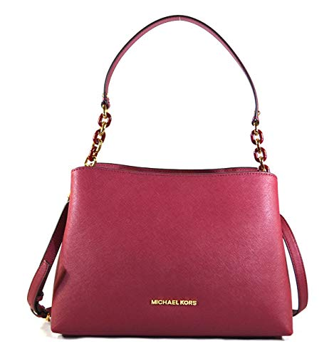 """Made of Saffiano leather Removable and adjustable crossbody strap, wear two ways, crossbody or over the shoulder Top snap closure with zipped middle compartment Inside 1 zip pocket and 7 slip pockets perfect to organize your daily essentials 11.5""""L x..."""