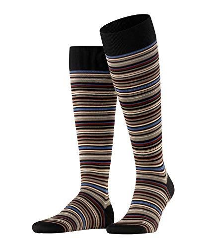 FALKE Herren Microblock Socken, grau (grey-white 3030), 45-46