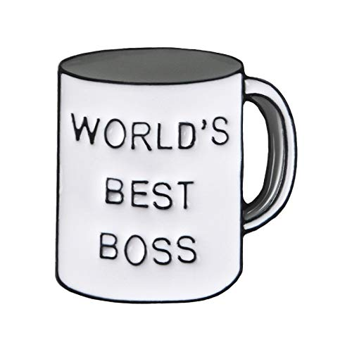 Broche de taza gris personalidad moda dominante jefe taza broche joyería ropa de mezclilla colgante regalo accesorio