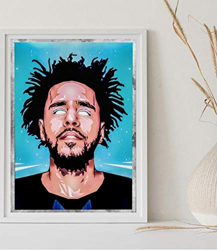 yuyu-beautiful J Cole Joey Badass Kanye West Lil Yachty Manifesti su Tela Poster da Parete Stampe su Tela per Quadri E Quadri su Tela per Pareti 50X70 Cm Senza Cornice