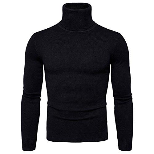 CELANDA Herren Strickpullover Stehkragen Turtleneck Sweater Slim Fit Rollkragen Pullover Warme Strickpullover