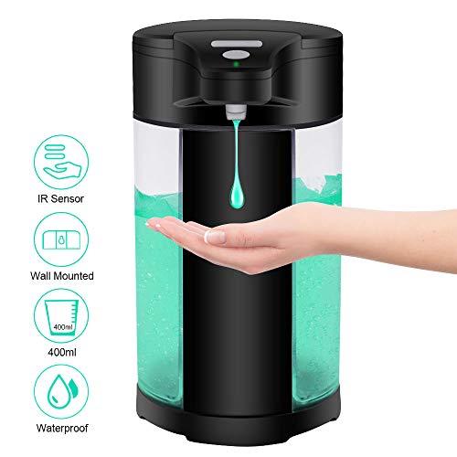 WIFORT Seifenspender Automatisch, 400ML Berührungslos Desinfektionsspender mit Sensor Infrarot Wandmontage, IPX7 Wasserdicht Elektrischer Flüssigseife Automatischer Spender für Küchen Bad Hotel