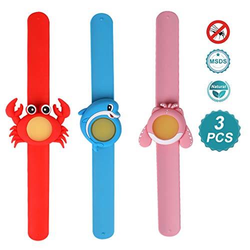 DEKINMAX Mückenschutz Armband, 6 Stück Anti Mückenschutz Block & 3 Klatschen Armband Natürliches Öl Sicher DEET-frei und wasserdicht Insektenschutz Armband für Kinder
