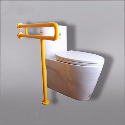 HQLCX Balustrade de sécurité Salle de Bain Barrier Free Barre Siège De Toilette Lumineux Accoudoir pour Personnes Âgées La Sécurité des Handicapés,Le Jaune