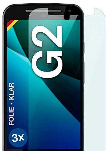 moex Protector de pantalla transparente compatible con Motorola Moto G2, 3 unidades