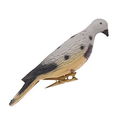 IPOTCH Haute Simulation 3D Leurre De Pigeon Tir Leurres Chasse Appât Piège Antiparasitaire - Multicolore