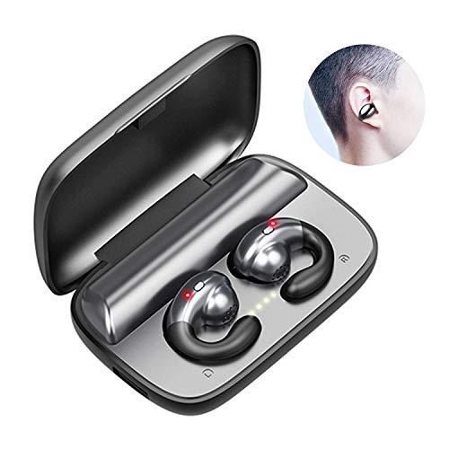 Bluetooth Earphone Earbuds Mini Wireless Headphones,Bone Conduction, Built-in Mic, True Wireless Bluetooth 5.0 in-Ear Headsets, IPX7 Waterproof Sports Headphone with Charging Box