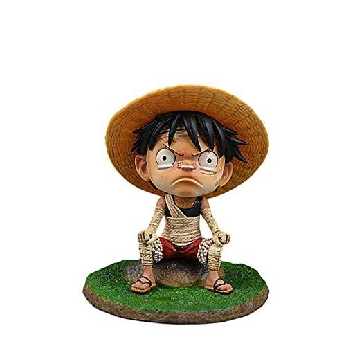 ymdmds Hohe 12 cm Einteilige Bandage Luffy Weine Kindheit Luffy Skulptur Geschenk Modell Kunstwerk Anime