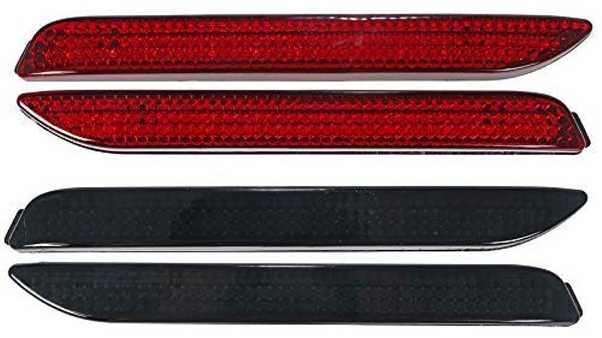 スタウト事務所フィラデルフィアトヨタ LED リアバンパー ライト 48PCS 汎用 リフレクター レッド ブラック/アルファード ヴェルファイア ノア ヴォクシー ハリアー カムリ