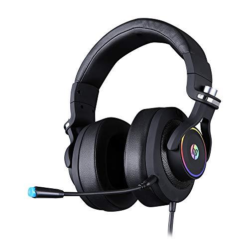 Headset Gamer HP H500GS, Drivers 50MM, Preto USB 7.1 Surround, RGB