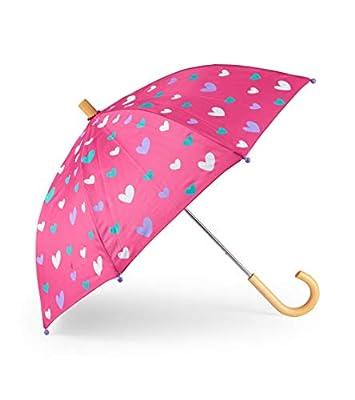 Hatley Girls' Little Printed Umbrellas, Sweethearts, One Size