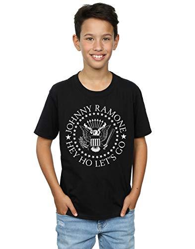 Absolute Cult Johnny Ramone Niños Hey Ho Let's Go Camiseta Negro 12-13...