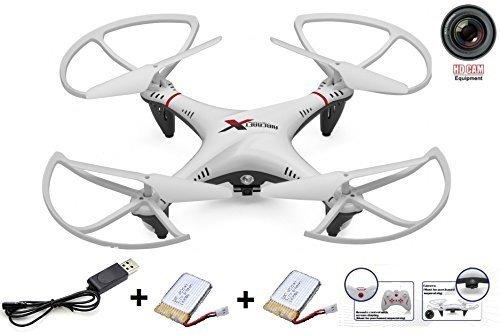 R806 UFO, Rayline Quadricotteri con 2 Batterie, Incluso. Videocamera HD! Super Self-Stable! Robusto Telaio! con Illuminazione A LED E Il Controllo Remoto da 2,4 GHz! Drone! Elicotteri !