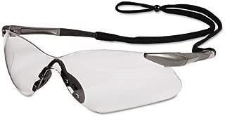 Jackson 3013536 KC 20470 Safety Glasses Nemesis VL Gun Metal Frame Clear Lens, 1 Pair
