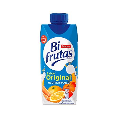 Bifrutas - Bebida refrescante mixta de zumo de Frutas y hortaliza y leche - Pack de 3 x 330 ml - Sabor Mediterráneo