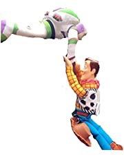 トイストーリー Toy Story ウッディー& バズ Woody&Buzz フィギュア 人形 ステッカー 車 カー アクセサリー ぬいぐるみ 30cm