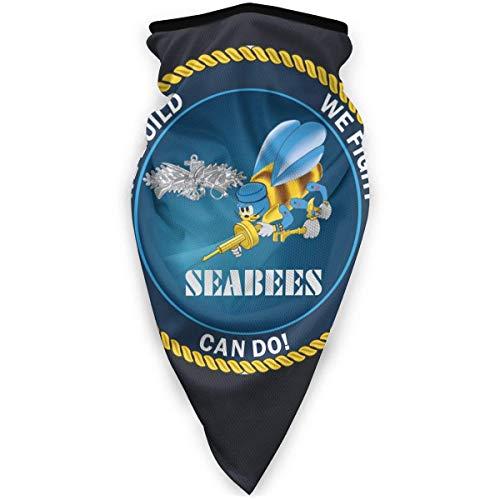 ulxjll Face Scarf Us Navy Seabees We Build We Fight Outdoor Ski Face Multifunzionale 24X51Cm Bocca di Alta qualità Bandana Unisex Personalizzata da Passeggio Pesca da Campeggio Traspirant