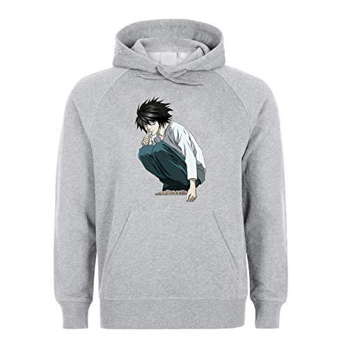 KRISSY Japanese Anime Manga Death Note L Kira Ryuk Unisex Sweatshirt Hoodie Kapuzenpullover X-Large