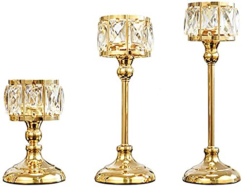 ZCYY Candelabro, candelabro a Granel candelabro decoración Cristal romántico Villa Europea vajilla decoración de la Boda Adornos Simple Moderno Regalo de Boda candelabro candelabro