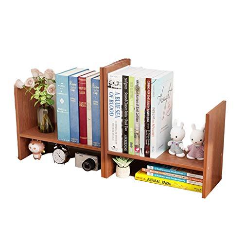 Estantes Librerías Pequeñas Estantes De Escritorio Estantes De Oficina Estanterías Simples En Escritorios Gabinetes De Celosía (Color : Teak, Size : 55 * 17 * 40cm)