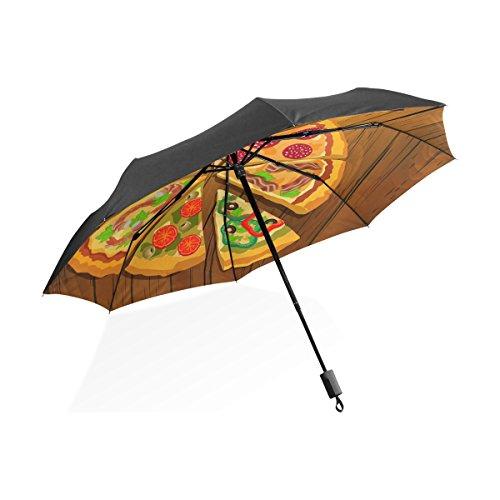 Florence Best Pizza On The Board Foldable Sun-proof Umbrella Folding Waterproof Windproof Umbrella