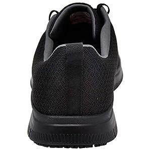 Skechers Men's Flex Advantage Bendon Work Shoe, Black/Charcoal, 9.5 M US
