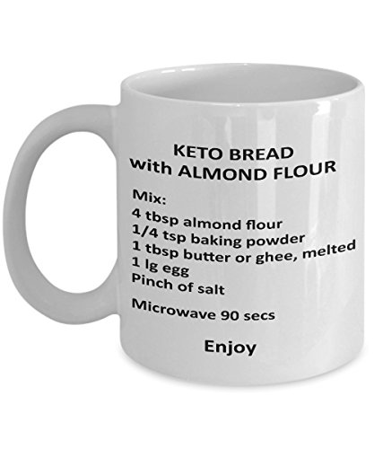 Keto Bread Mug Diet Recipe - Almond Flour Bread Coffee Cup Gift for the Keto Obsessed Mama Queen King