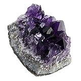 MILISTEN 2 Unidades de Cristal de Amatista Natural Grupo de Piedra Geoda Espécimen de Piedra Mineral Cristal Curativo Geoda Piedras Preciosas Irregulares Muestra Decoración del Hogar