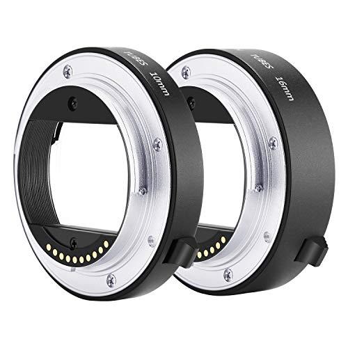 Neewer Metall Autofokus AF-Makro-Verlängerungsrohr-Set 10mm, 16mm für Sony NEX E-Mount-Kamera wie a9 a7 a7II a7III a7RIII a7RII