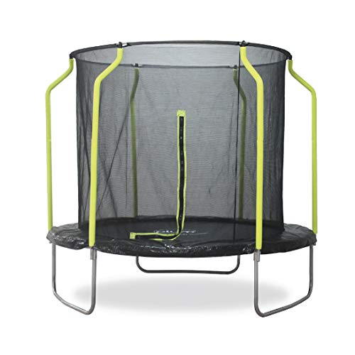 Plum 8ft Wave Springsafe Trampoline with Enclosure Black